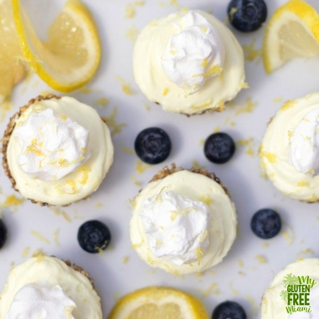 150+ Vegetarian Easter Recipes that are perfect for your holiday dinner or brunch, including these No Make Lemon Cream Pies from My Gluten Free Miami! Find tons of vegetarian and vegan recipe ideas - from healthy appetizers to decadent desserts - that your whole family will love! Hello Little Home