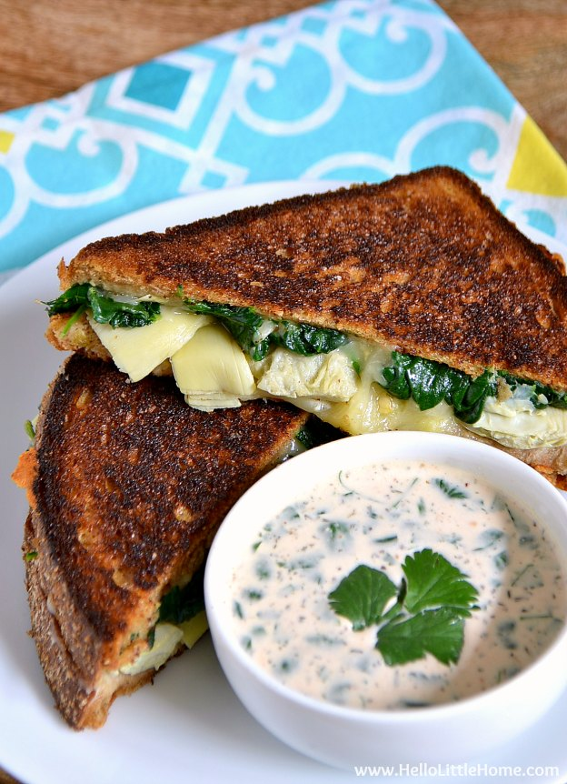 10 Things to Try This April! Enjoy a grilled cheese! | Hello Little Home #HLH10Things