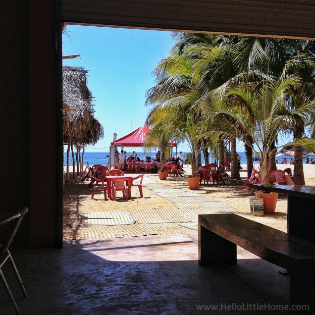 View of Chacala, Mexico Beach from Chac Mool Cafe ... Escape to this quiet fishing village on the Pacific Coast of Mexico in the state of Nayarit for a laidback, stress free vacation! This travel diary is full of things to do during a Chacala, Mexico getaway! | Hello Little Home