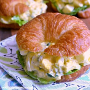 Deviled Egg Salad Sandwiches ... a tasty twist on the classic egg salad recipe! This easy deviled egg salad recipe is bursting with flavor and crunch! So simple to make and perfect for parties, snack, or any meal!   Hello Little Home