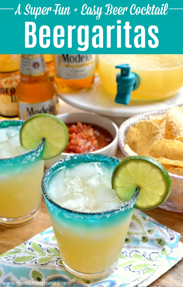An easy Beergaritas recipe served with chips and salsa.