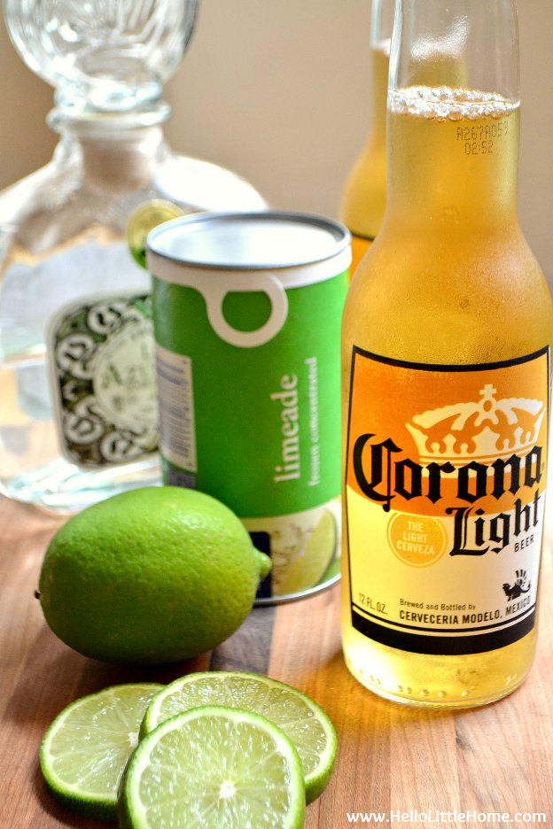 Beergarita ingredients