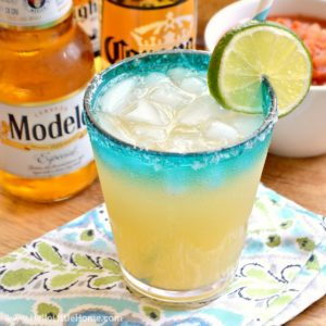 Easy Beergaritas recipe ... a delicious, refreshing combination of your two favorite party drinks, beer and margaritas! Make a pitcher of Beergaritas with three simple ingredients following this fast, easy recipe. Perfect for Cinco de Mayo or any celebration!   Hello Little Home
