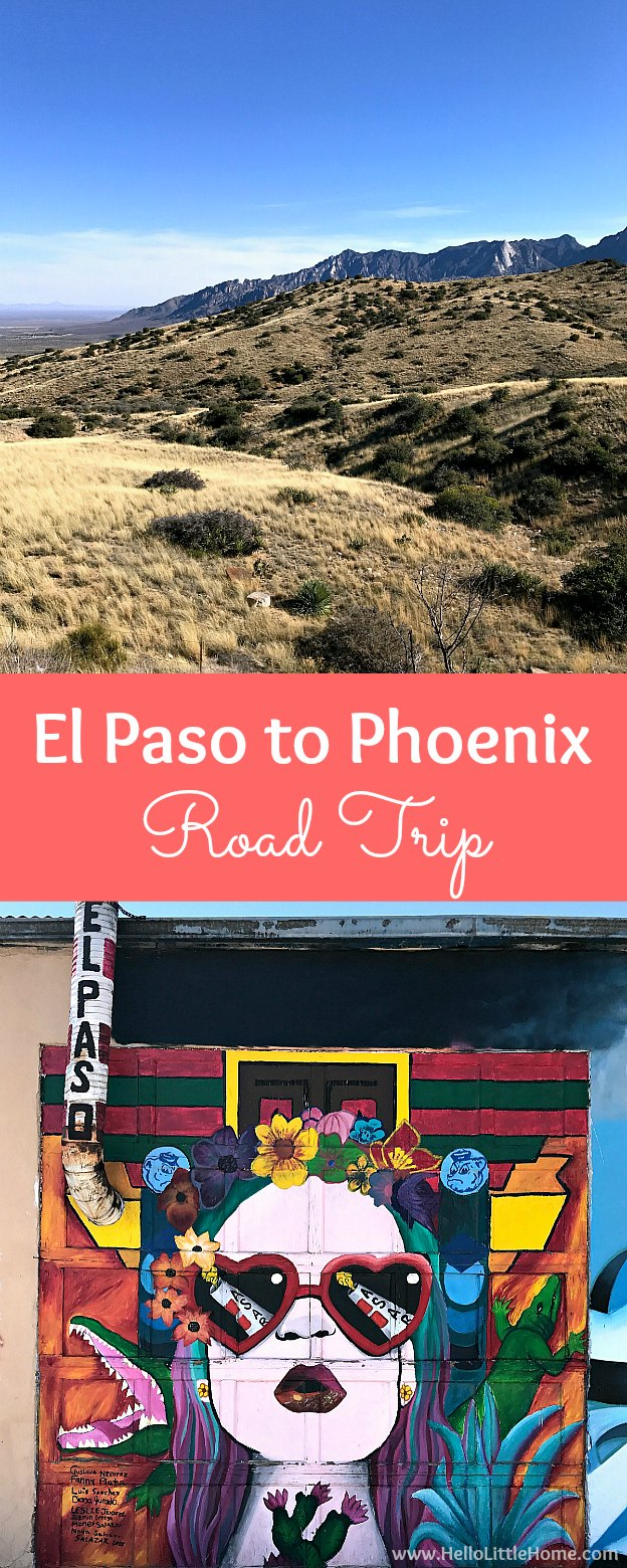 El Paso to Phoenix Road Trip! Travel from Texas to Arizona with lots of fun stops along the way, including White Sands National Monument and MLB spring training! Find out the best things to do in El Paso and Phoenix, from can't miss sights to delicious restaurants! | Hello Little Home