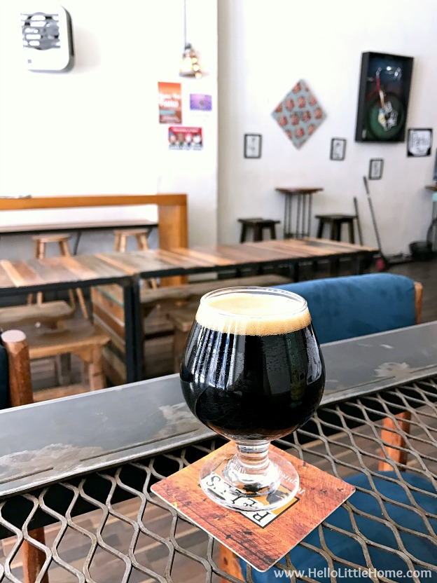 Lunch at El Paso's Craft and Social, a craft beer and wine pub, during an El Paso to Phoenix Road Trip! Travel from Texas to Arizona with lots of fun stops along the way, including White Sands National Monument and MLB spring training! Find out the best things to do in El Paso and Phoenix, from can't miss sights to delicious restaurants! | Hello Little Home