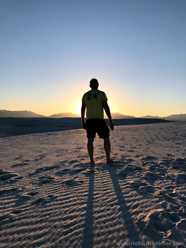 Exploring White Sands National Monument during an El Paso to Phoenix Road Trip! Travel from Texas to Arizona with lots of fun stops along the way for art, food, and MLB spring training! Find out the best things to do in El Paso and Phoenix, from can't miss sights to delicious restaurants! | Hello Little Home