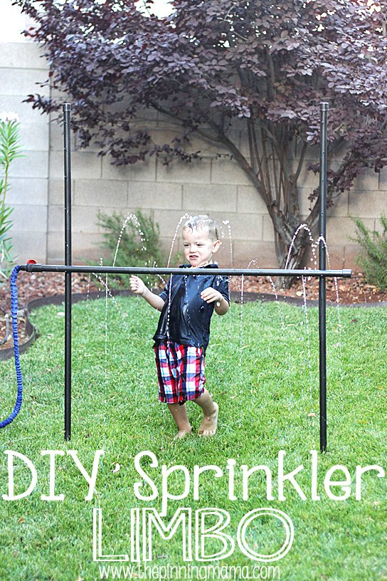 20+ DIY Yard Games that are perfect for summer entertaining, like this DIY Sprinkler Limbo from The Pinning Mama! These awesome lawn games for adults and kids - like cornhole, giant Jenga, Yardzee, tic tac toe + more - are perfect for backyards, camping trips, and family fun. Learn how to make DIY yard games from these easy tutorials, then enjoy these game all summer long! | Hello Little Home