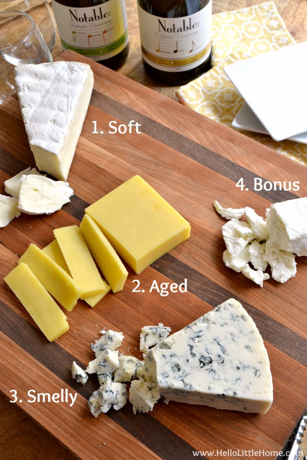 How to arrange an easy cheese plate! Learn how to make a beautiful cheese platter that's the perfect appetizer for entertaining. From selecting cheeses to choosing the right accompaniments to presentation, these easy tips will answer all your questions! | Hello Little Home