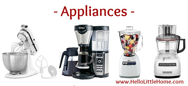 Kitchen Essentials List for Home Cooks ... appliances! From basics to fun gadgets, this kitchen essentials list has everything you need to start creating delicious meals! Perfect for new graduates, college students, or anyone setting up their first apartment or creating a wedding registry, this checklist has the must have kitchen tools you need to get started cooking! | Hello Little Home