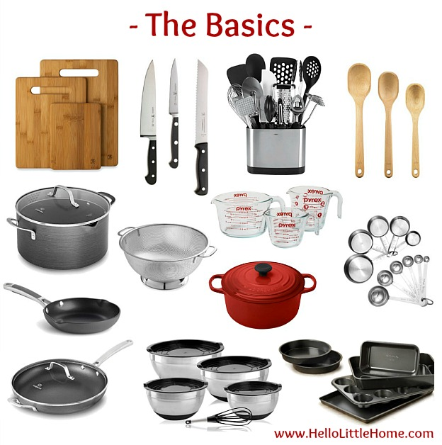 Kitchen Essentials List For Home Cooks ... The Basics! From Basics To Fun