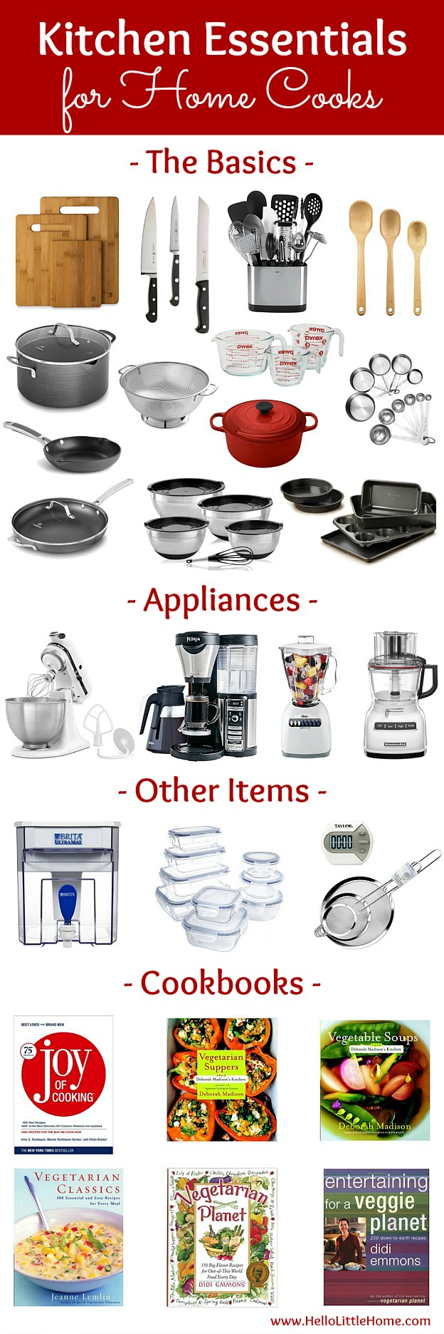 Kitchen essentials list for home cooks hello little home for Things you need for a house