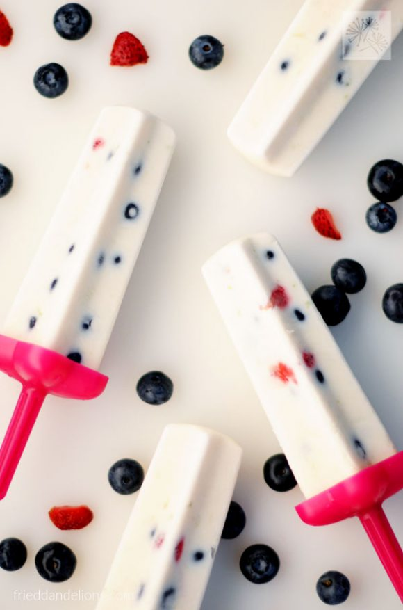 30 Amazing Red, White, and Blue Dessert Recipes, like these Firecracker Popsicles from Fried Dandelions, perfect for Fourth of July, Memorial Day, Labor Day, or any summer party! With everything from fruit salads to cheesecakes, these delicious patriotic dessert ideas run the gamut from healthy to decadent! | Hello Little Home