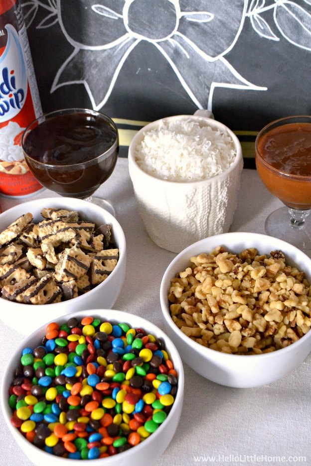 Waffle Ice Cream Sundae Bar topping ideas! | Hello Little Home