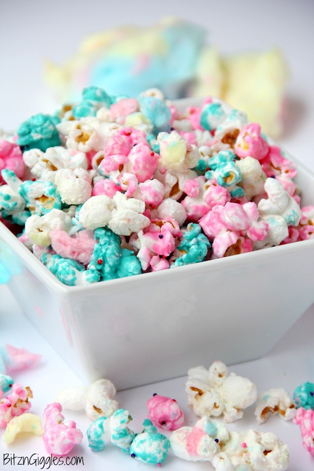 The ultimate Birthday Cake Alternatives roundup ... over 70 delicious recipes perfect for adults and for kids alike, including this Cotton Candy Popcorn from Bitz & Giggles! These fun dessert ideas range from healthy to decadent. Awesome non cake birthday ideas your whole family will love! | Hello Little Home