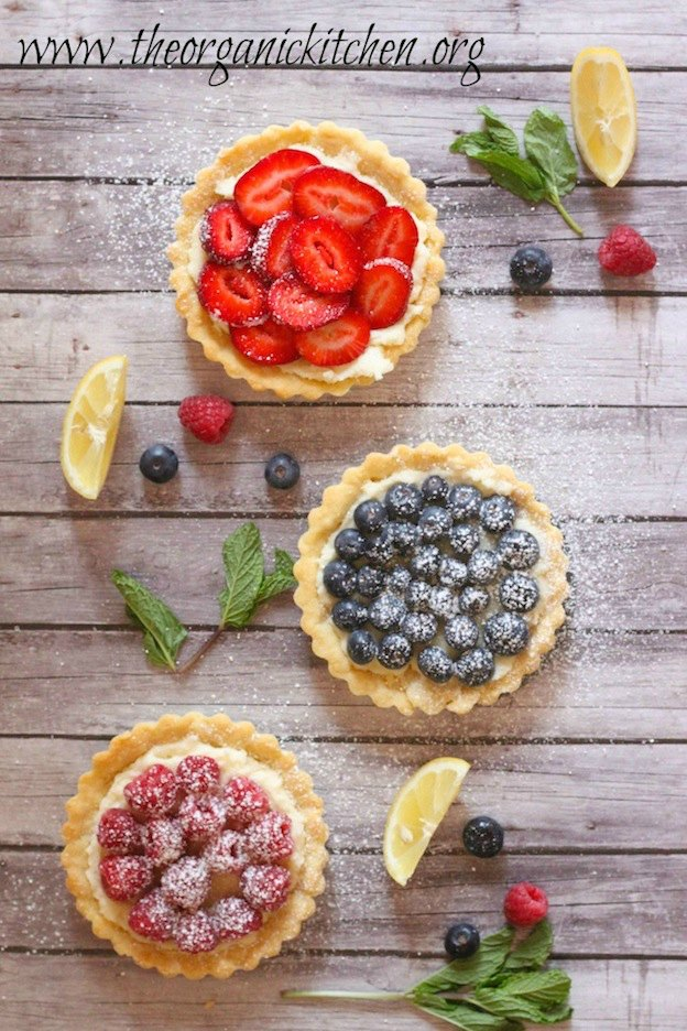 The ultimate Birthday Cake Alternatives roundup ... over 70 delicious recipes perfect for adults and for kids alike, including these Lemon Berry Mascarpone Tarts from The Organic Kitchen! These fun dessert ideas range from healthy to decadent. Awesome non cake birthday ideas your whole family will love! | Hello Little Home
