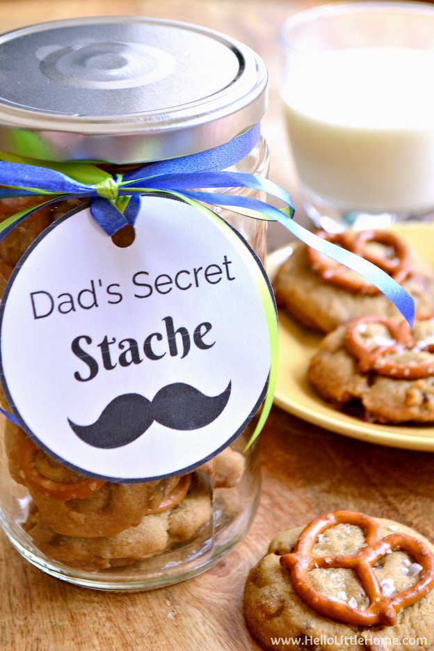 Easy Diy Father S Day Gift Idea Dad S Secret Stache Hello Little Home