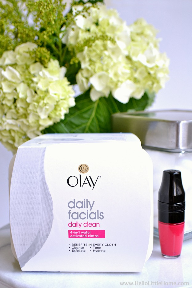 Using Olay Daily Facials as part of your oily skin care routine! | Hello Little Home