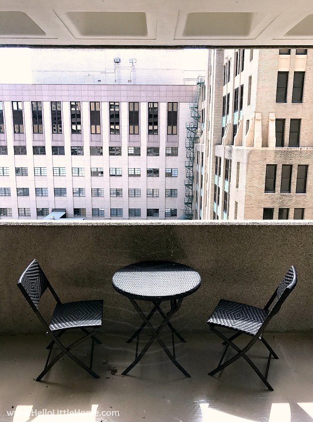 Bistro Set on My Balcony | Hello Little Home