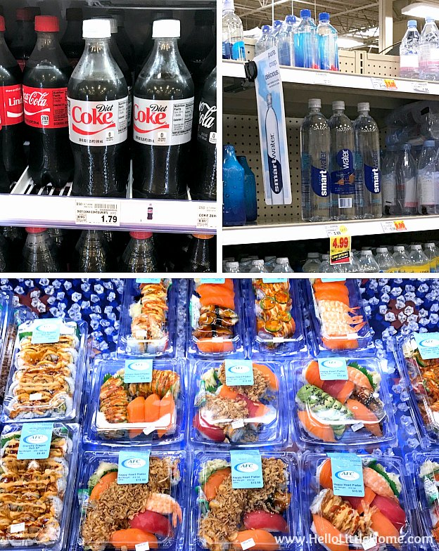 Diet Coke, smartwater, and sushi at Kroger | Hello Little Home
