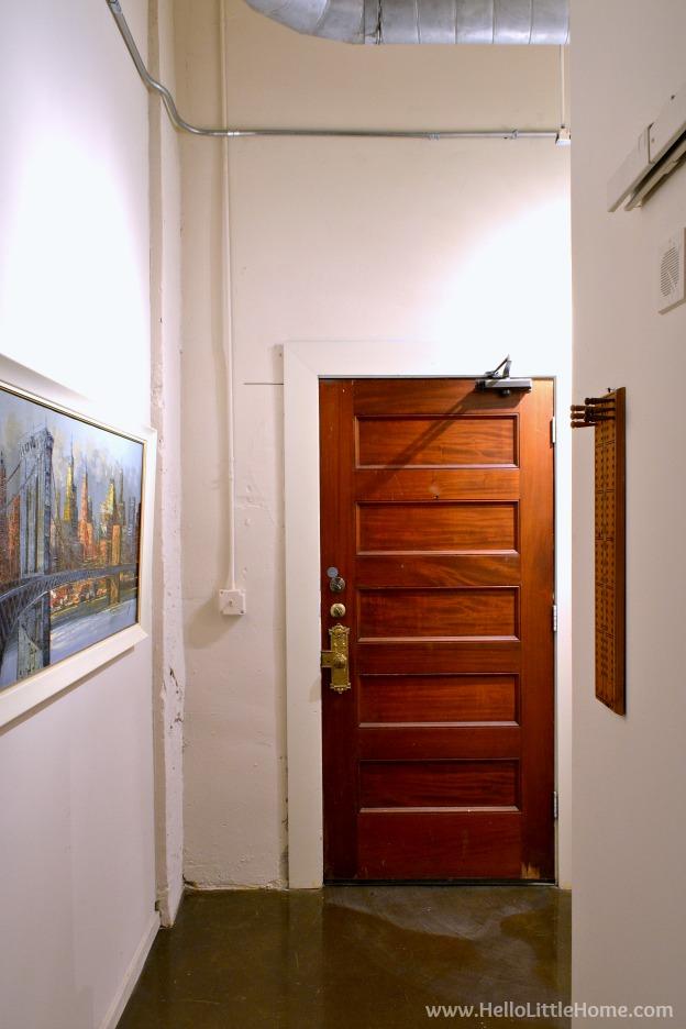 Loft apartment details - entry. | Hello Little Home