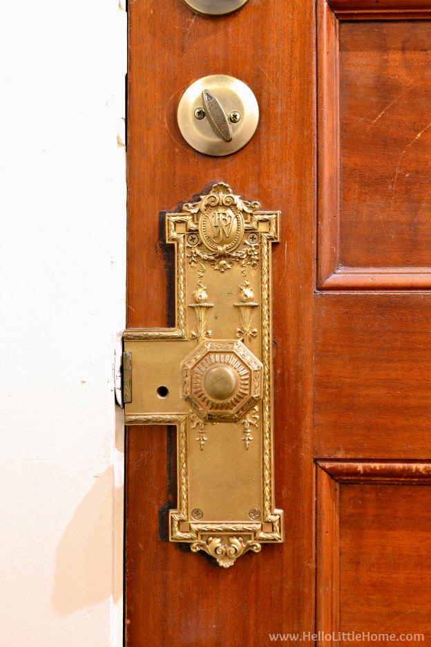 Loft apartment details - door handle. | Hello Little Home