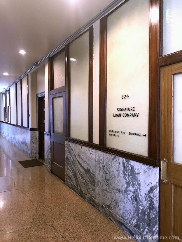 Dallas Loft Apartment Tour ... Wilson Building hallways. | Hello Little Home