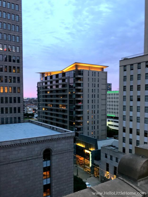 Dallas Loft Apartment Tour ... Wilson Building view. | Hello Little Home