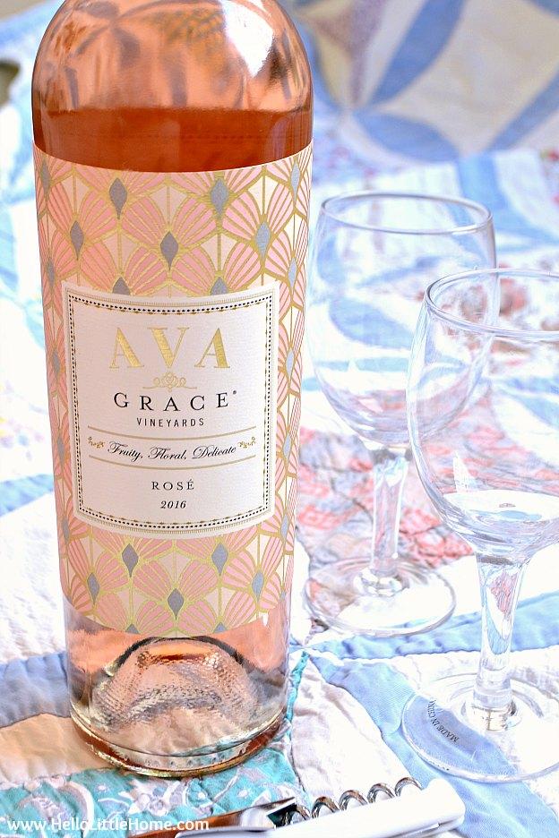 Rose, the perfect picnic wine.   Hello Little Home