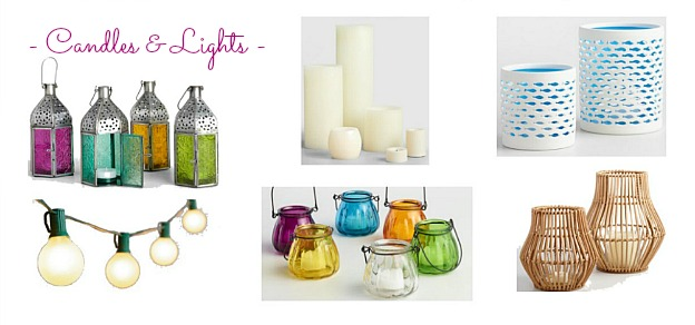 Faves Under $50: Outdoor Candles and Lights! Decorate your terrace, patio, porch, or deck for summertime or fall ... the best outdoor decor on a budget! Lots of outdoor accessories perfect for apartments and small spaces. | Hello Little Home