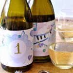 Free printable blind wine tasting labels on bottles. | Hello Little Home