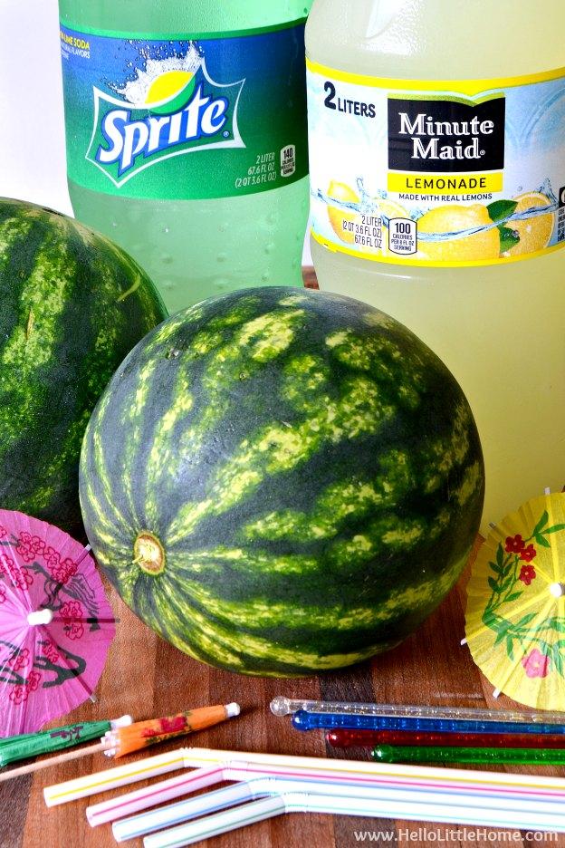 Mini Watermelon Punch Bowls | Hello Little Home