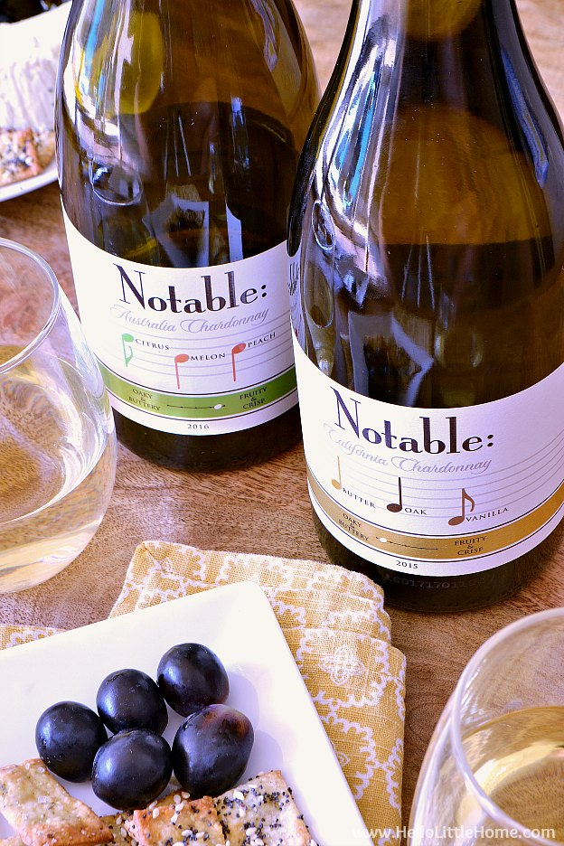 Notables wine with Parmesan Herb Crackers | Hello Little Home