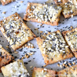 Perfectly baked Parmesan Herb Crackers | Hello Little Home
