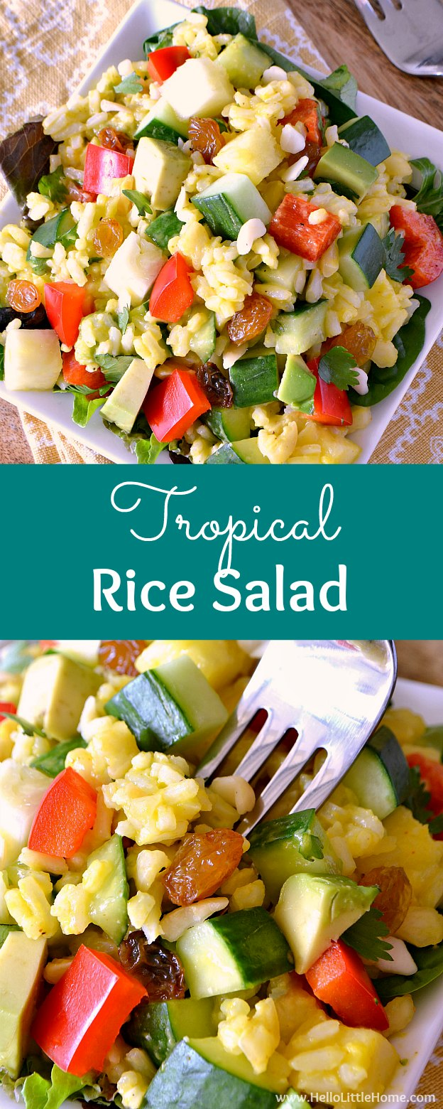 Tropical Fruit and Rice Salad