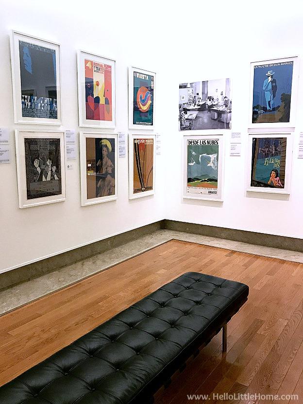 A corner filled with a Print Exhibition at the Museo de Arte de Puerto Rico