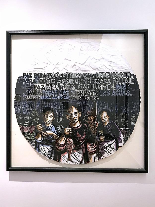48 Hours in San Juan, Puerto Rico: Paisaje Antibelico #3 (Anti-War Landscape) print by Jose Alicea at the Museo de Arte de Puerto Rico | Hello LIttle Home