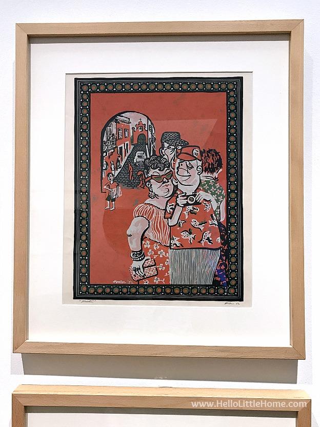 48 Hours in San Juan, Puerto Rico: Turistas by Lorenzo Homar print at the Museo de Arte de Puerto Rico | Hello LIttle Home