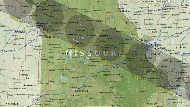 2017 Missouri Eclipse Map | Hello Little Home