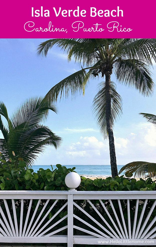 Isla Verde Beach in Carolina, Puerto Rico! All the best things to do and places to stay on Isla Verde Beach, located right next to San Juan, Puerto Rico ... from walking on the soft sand to gazing at the beautiful palm trees to relaxing at the perfect hotel! | Hello Little Home