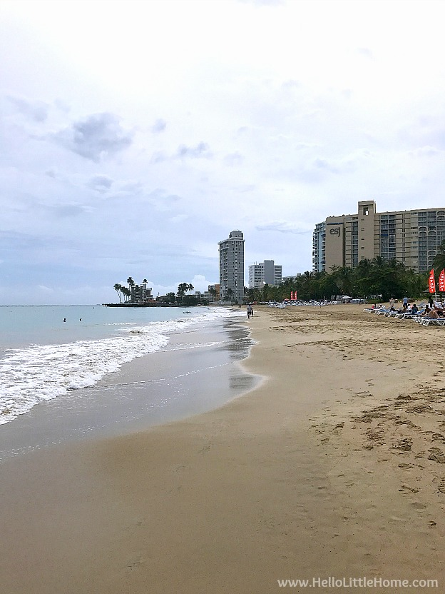 Beautiful views of water and buidlings on Isla Verde Beach in Carolina, Puerto Rico! | Hello Little Home