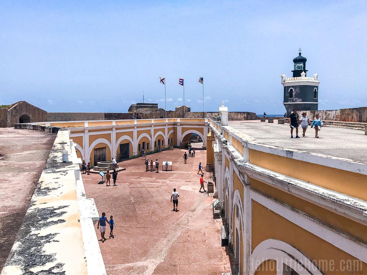 The main plaza at Castillo San Felipe del Morro.