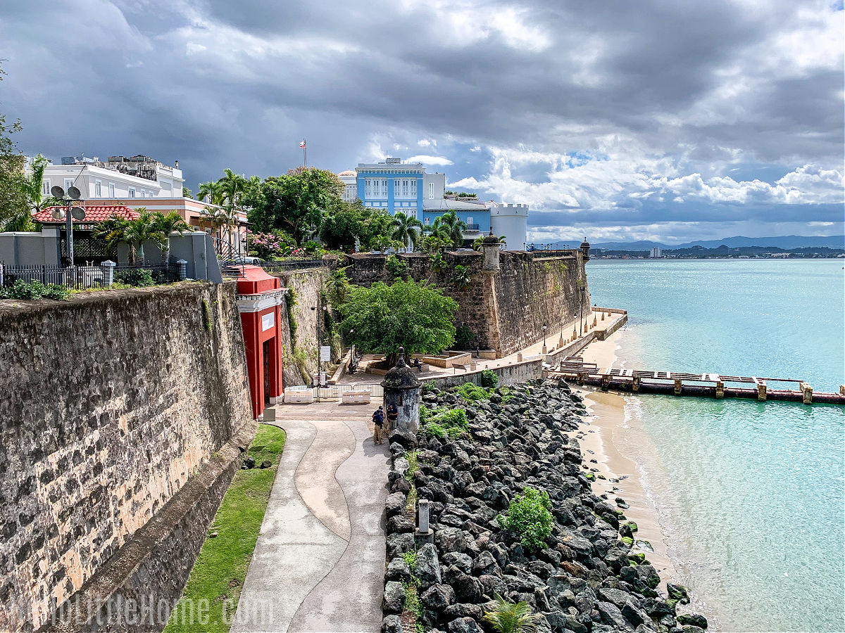 A view of the San Juan Gate and La Fortaleza from the City Wall.