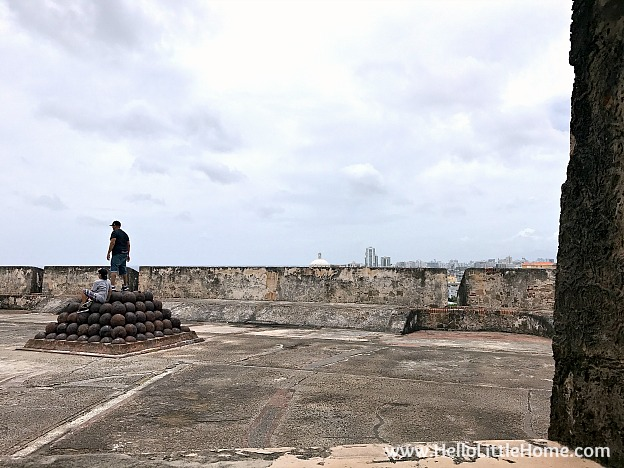 View of fort through window in Troops Quarters at Castillo San Cristóbal, part of the San Juan National Historic Site and one of the best things to do in San Juan, Puerto Rico! | Hello Little Home