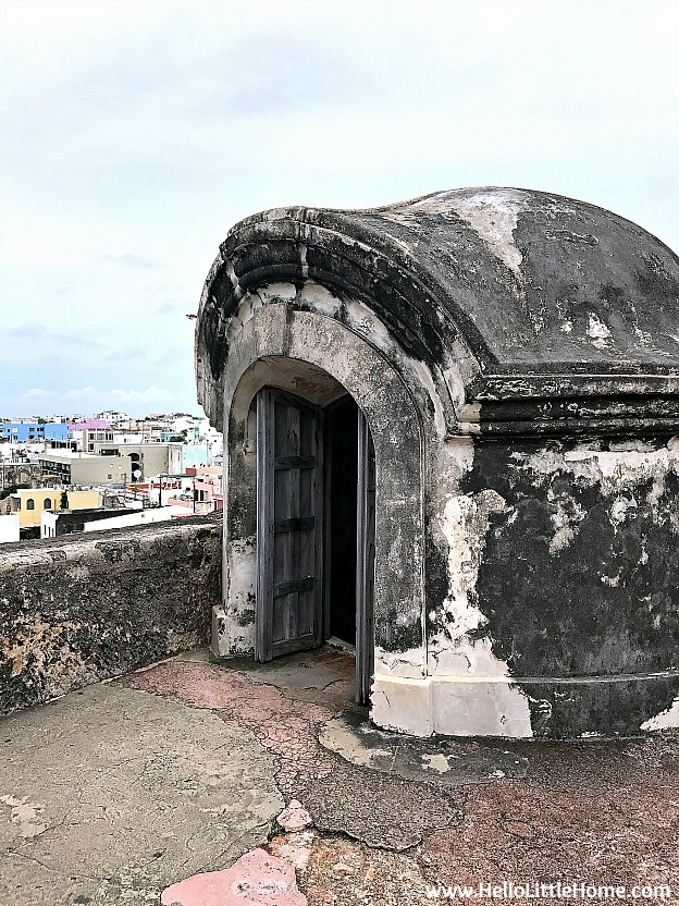 Rooftop exit to Spiral Staircase inside the Troops Quarters at Castillo San Cristóbal, part of the San Juan National Historic Site and one of the best things to do in San Juan, Puerto Rico! | Hello Little Home