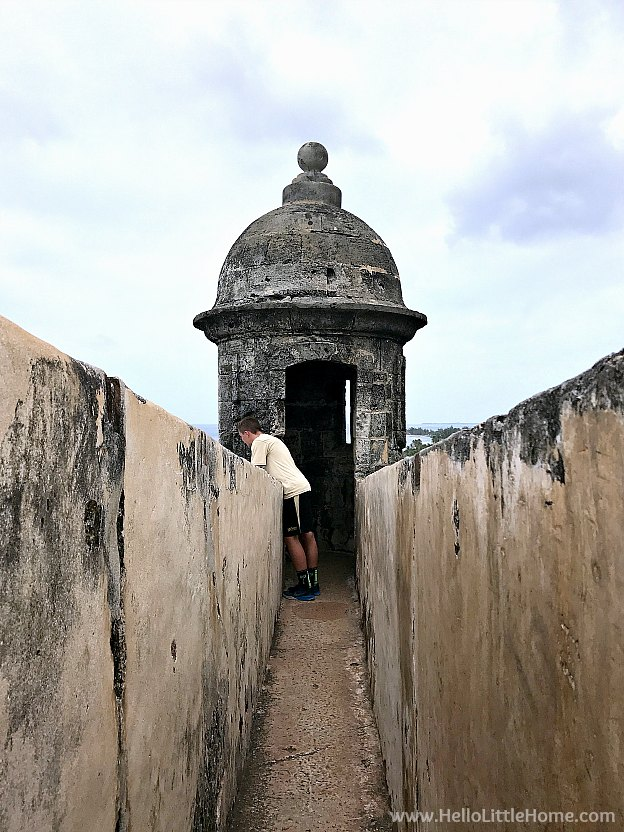 A Sentry Box on top of Castillo San Cristóbal, part of the San Juan National Historic Site and one of the best things to do in San Juan, Puerto Rico! | Hello Little Home