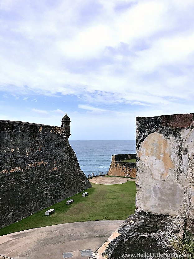 View of a Sentry Box from a Ravelin, part of the Outer Defenses of Castillo San Cristóbal, which is part of the San Juan National Historic Site and one of the best things to do in San Juan, Puerto Rico! | Hello Little Home