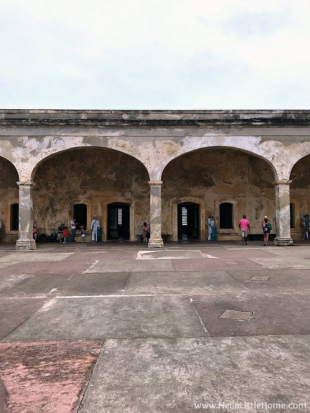 Main plaza at Castillo San Cristóbal, part of the San Juan National Historic Site and one of the best things to do in San Juan, Puerto Rico! | Hello Little Home