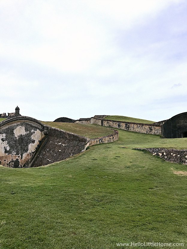 Exploring the Outer Defenses of Castillo San Cristóbal, part of the San Juan National Historic Site and one of the best things to do in San Juan, Puerto Rico! | Hello Little Home