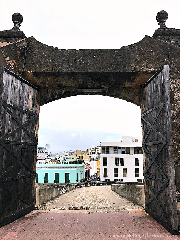 View of the historic entrance to Castillo San Cristóbal, part of the San Juan National Historic Site and one of the best things to do in San Juan, Puerto Rico! | Hello Little Home