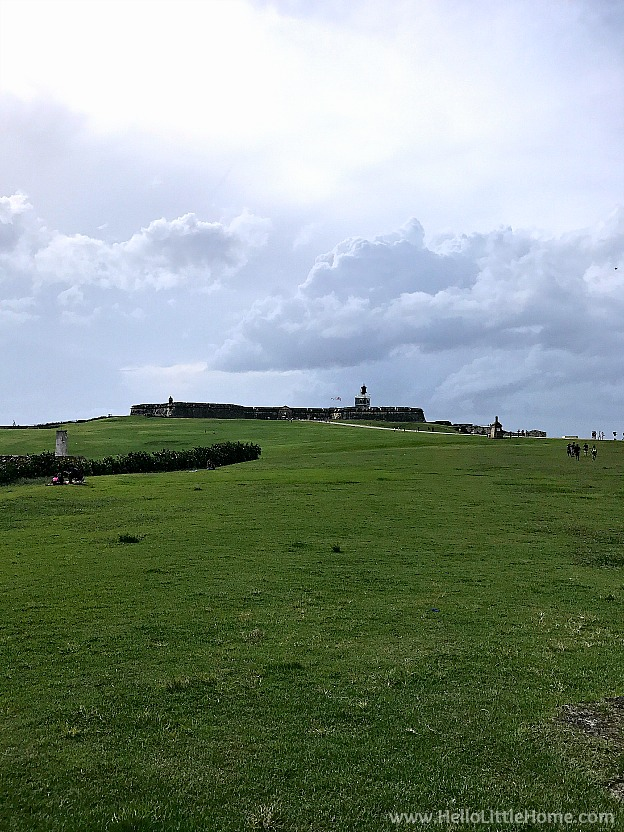 Castillo San Felipe del Morro … this historic fort in Old San Juan is part of the San Juan National Historic Site ... one of the best things to do in San Juan, Puerto Rico! | Hello Little Home